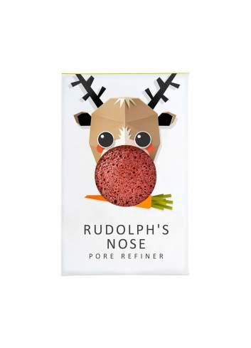 Éponge Faciale Naturelle Konjac d'Argile Rouge Mini. Rudolph. The Konjac Sponge Company.