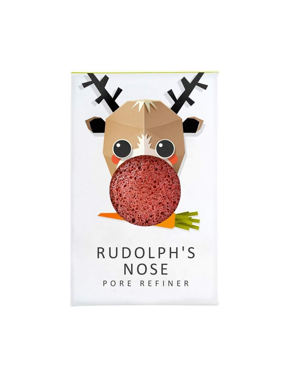 Esponja Konjac Facial Natural de Arcilla Roja Mini. Rudolph. The Konjac Sponge