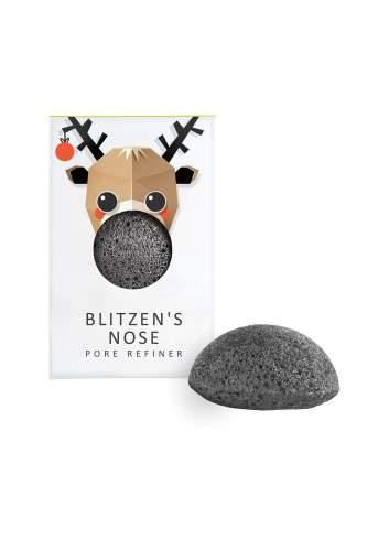 Éponge Faciale Naturelle Konjac de Charbon de Bambou Mini. Blitzen. The Konjac Sponge Company.