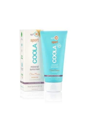 Crème de Protection Solaire Faciale Organique SPF 30 Citrus Mimosa. Mineral Sport. Coola.