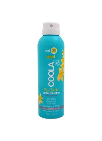 Crema de Protección Solar Corporal Orgánica SPF 30 en Spray Piña Colada. Travel Sport Continuous. Coola