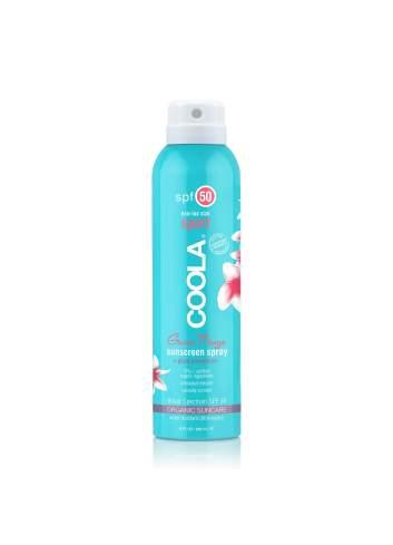 Crème de Protection Solaire Corporelle Organique SPF 30 en Spray Citrus Mimosa. Sport Continuous. Coola.