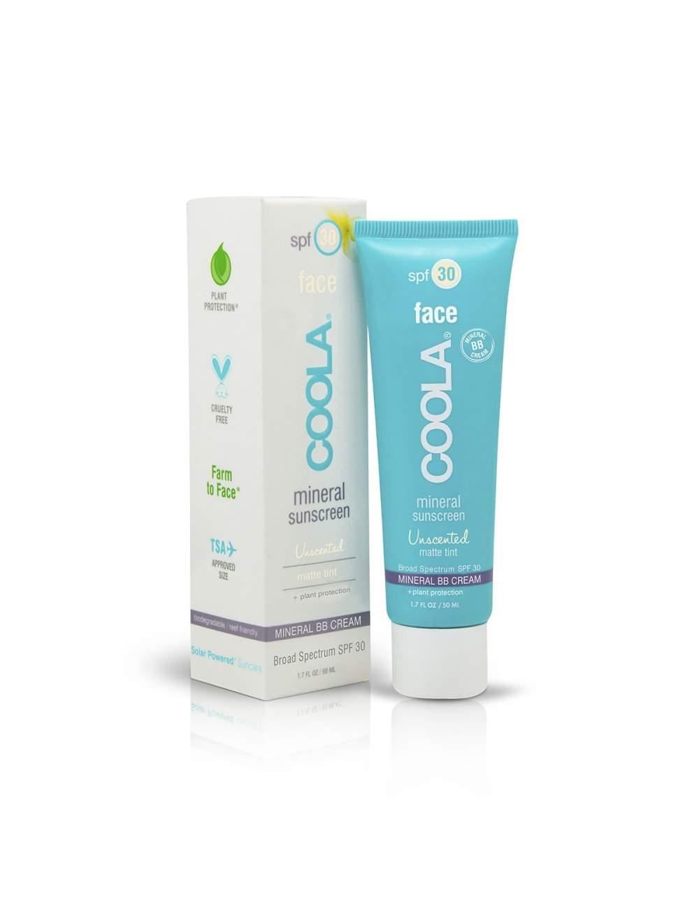 Crema de Protección Solar Facial Orgánica SPF 30 con color Unscented. Mineral. Coola