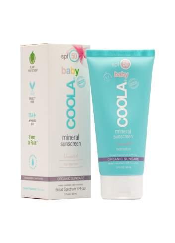 Crème de Protection Solaire Organique pour des Bébés SPF 50 Inodore. Mineral. Coola.