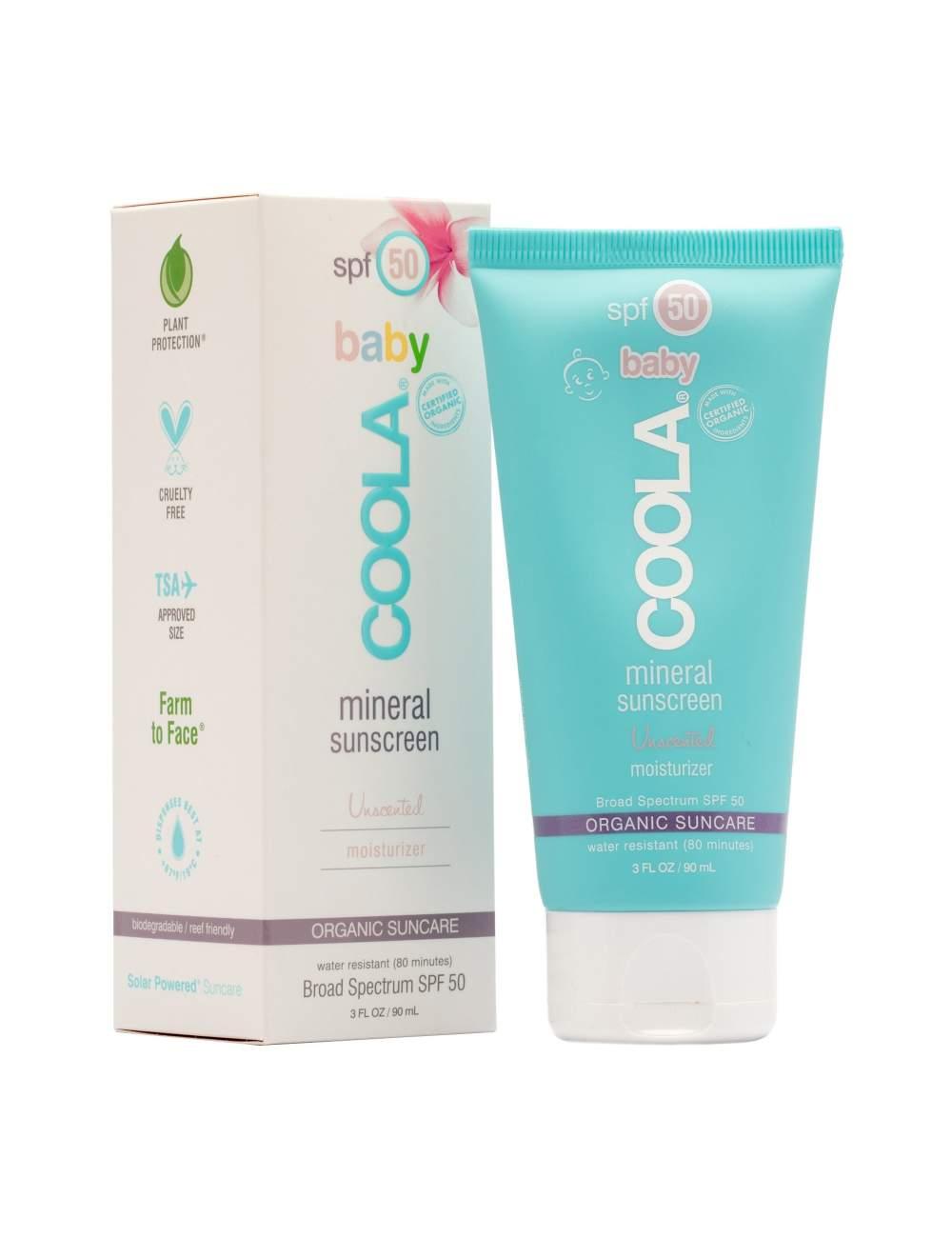 Crema de Protección Solar Orgánica para Bebés SPF 50 Unscented. Mineral. Coola