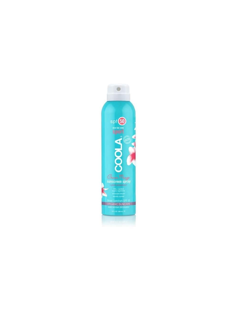 Crema de Protección Solar Corporal Orgánica SPF 50 en Spray Guava Mango. Sport Continuous. Coola
