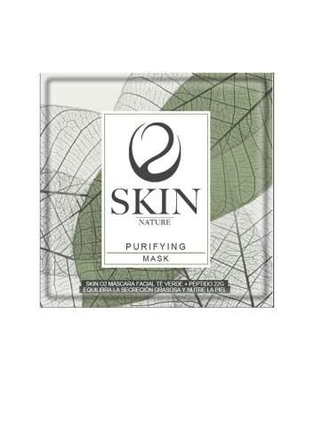 Mascarilla Facial Natural Equilibrante con Té Verde y Péptido. Skin O2