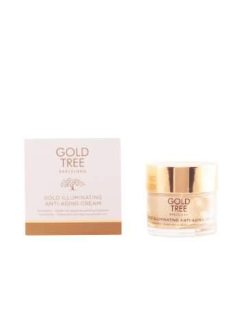 Crème Faciale Hydratante Naturelle avec des Protéines de Soja et de l'Or. Gold Tree Barcelona.
