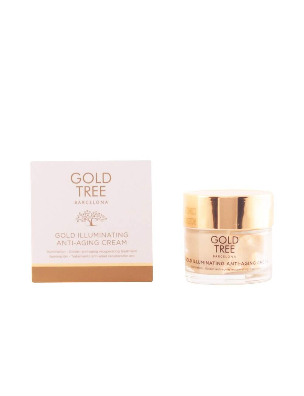 Crema Facial Antiedad Natural con Proteínas de Soja y Oro. Gold Tree Barcelona