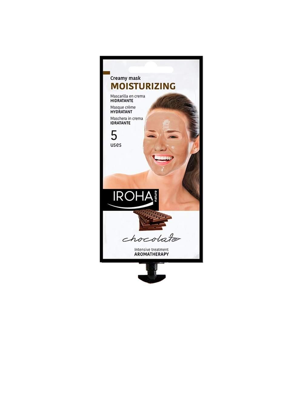 Masque Facial Hydratant de Chocolat en Crème. Iroha Nature.