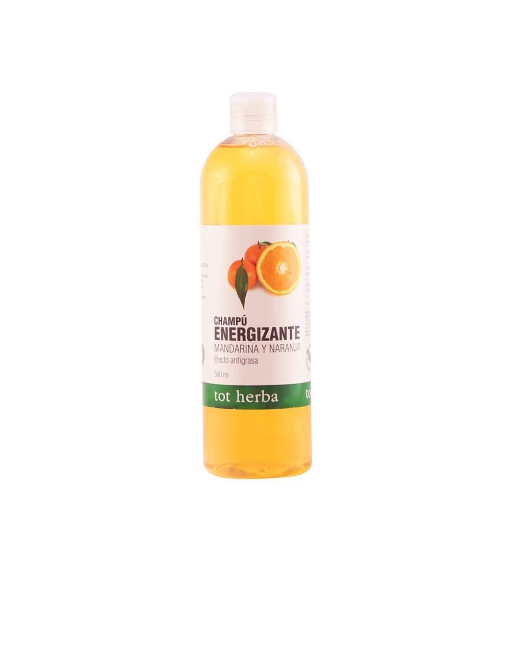 Shampooing Énergisant Naturel d'Orange et Mandarine. Tot Herbá.