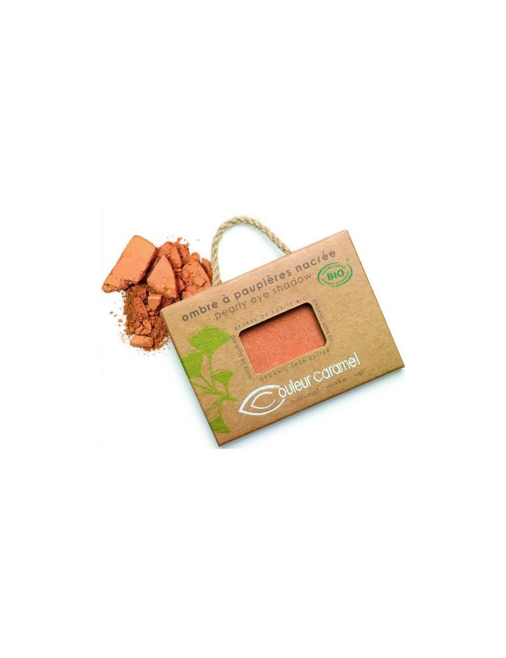 Ombre à Paupières Bio Nacré 07 Cuivre Copper. Couleur Caramel