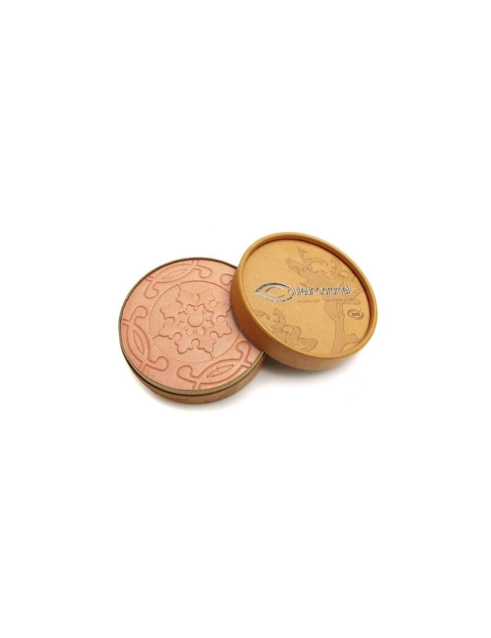 Poudres Bronzantes Bio Nacrés Terre Caramel 22 Orange Brown. Couleur Caramel