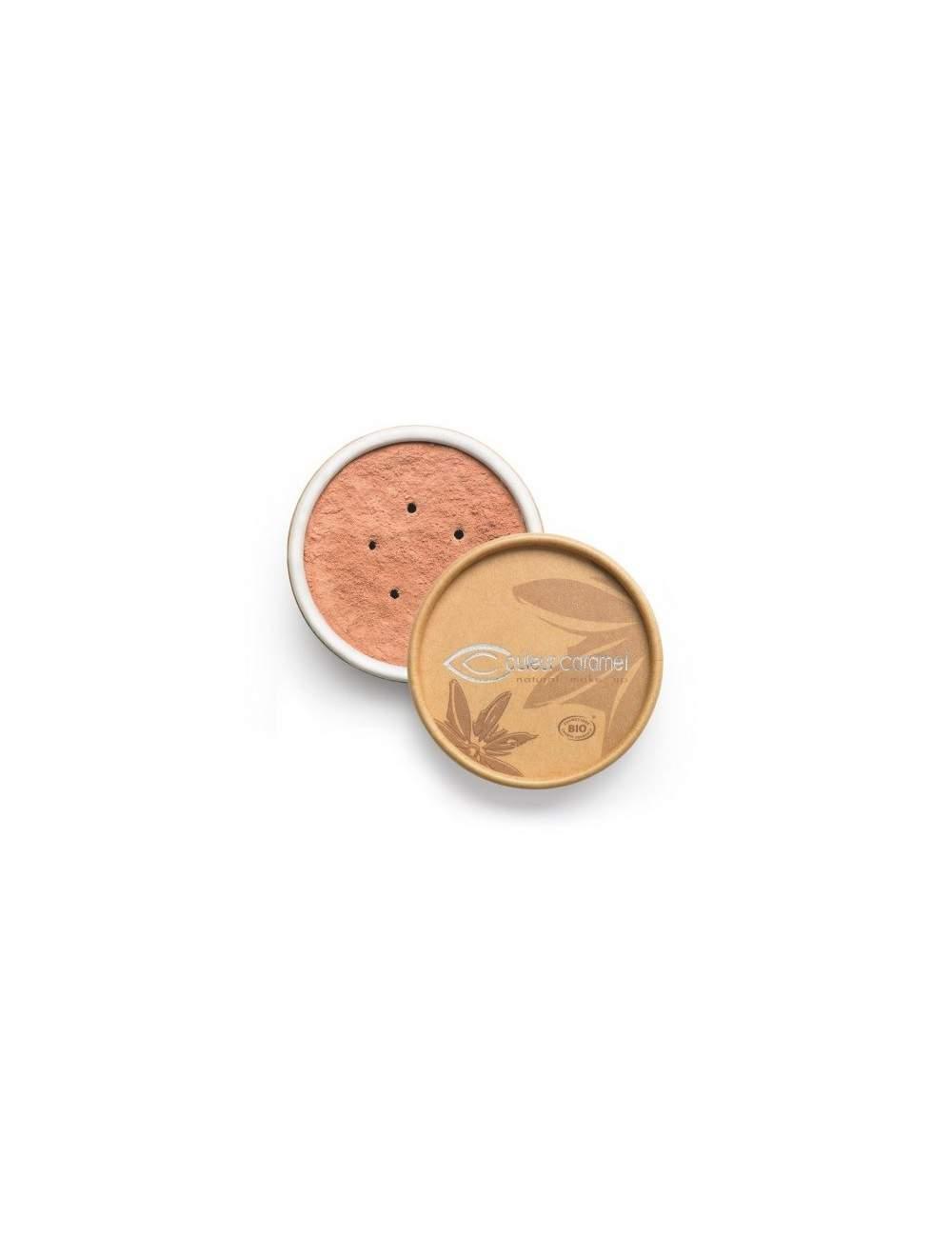 Fond de Teint Bio Minéral 02 Pink Beige. Couleur Caramel