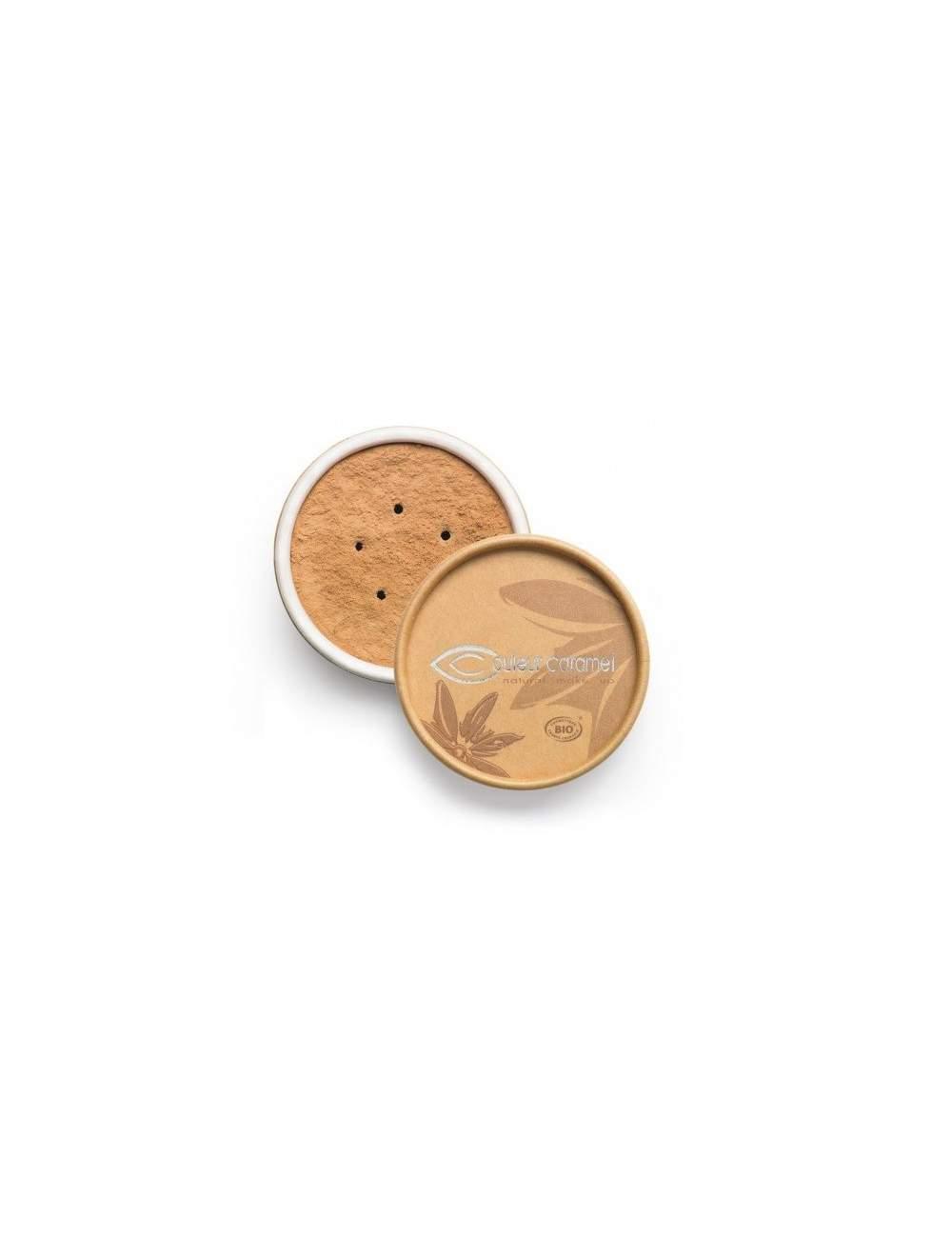 Fond de Teint Bio Minéral 03 Apricot Beige. Couleur Caramel