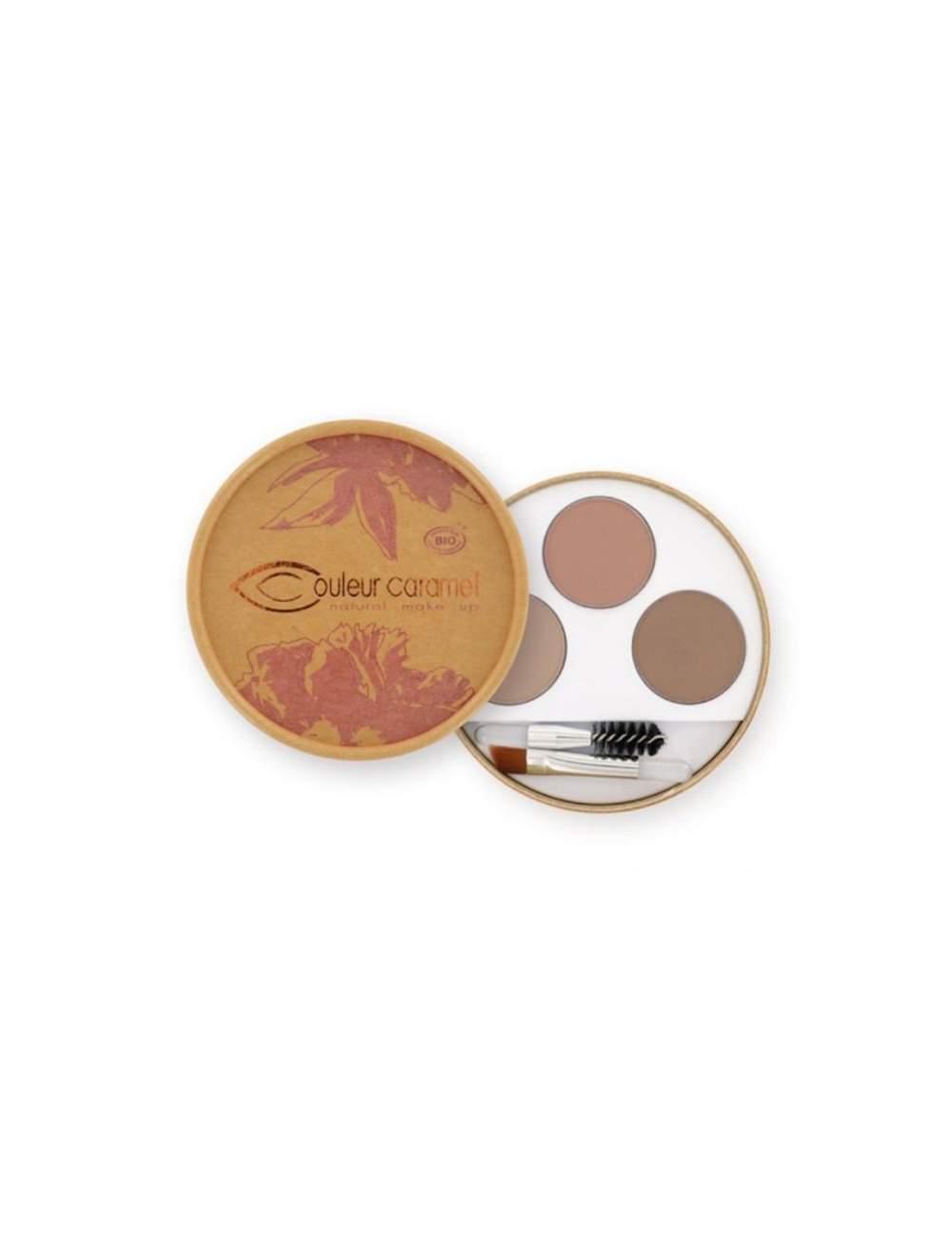 Kit de Maquillage de Sourcils Bio 28 Blonde. Couleur Caramel