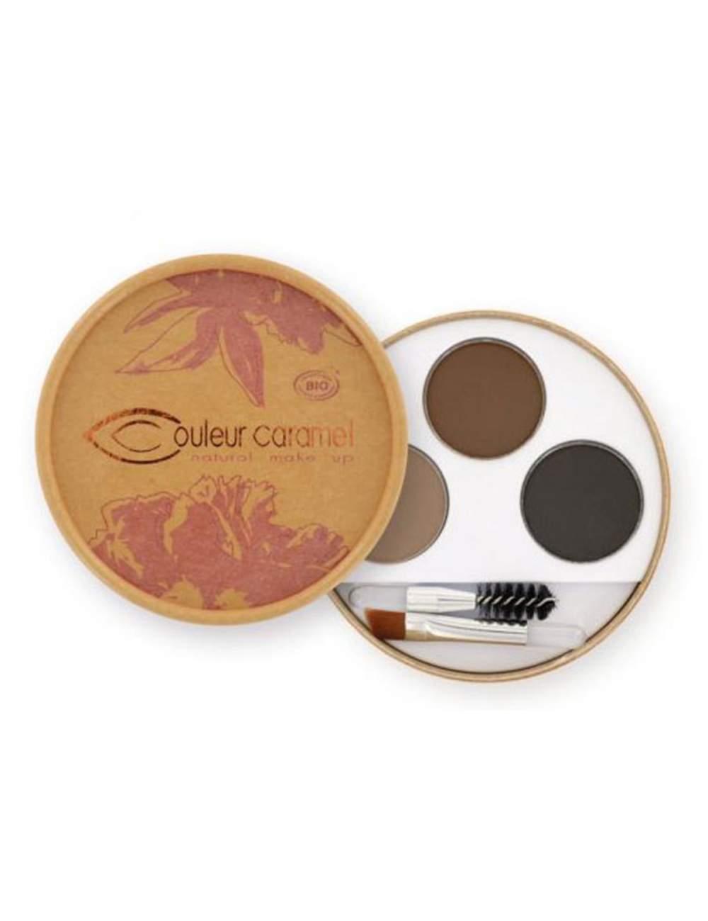Kit de Maquillage de Sourcils Bio 29 Brunette. Couleur Caramel
