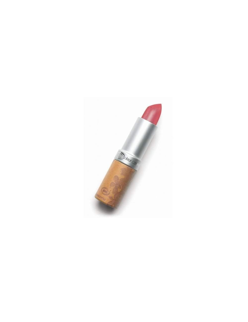 Rouge à Lèvres Bio Nacrée 204 Rosy Red. Couleur Caramel