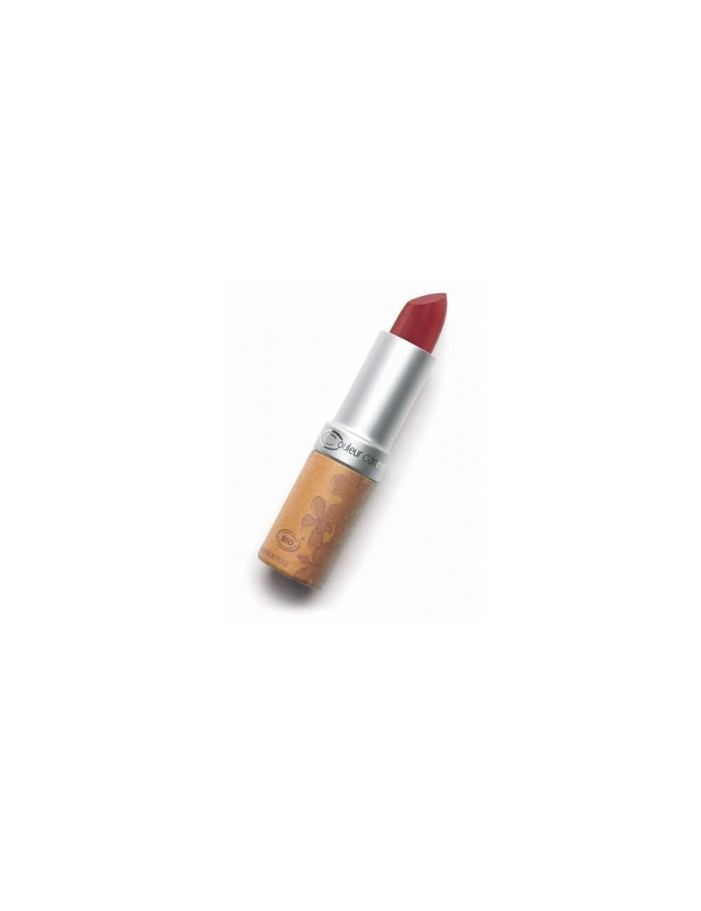 Rouge à Lèvres Bio Glossy 223 True Red. Couleur Caramel
