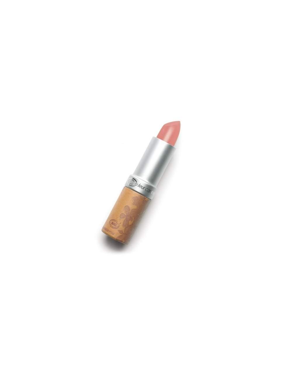 Rouge à Lèvres Bio Nacrée 254 Natural Pink. Couleur Caramel