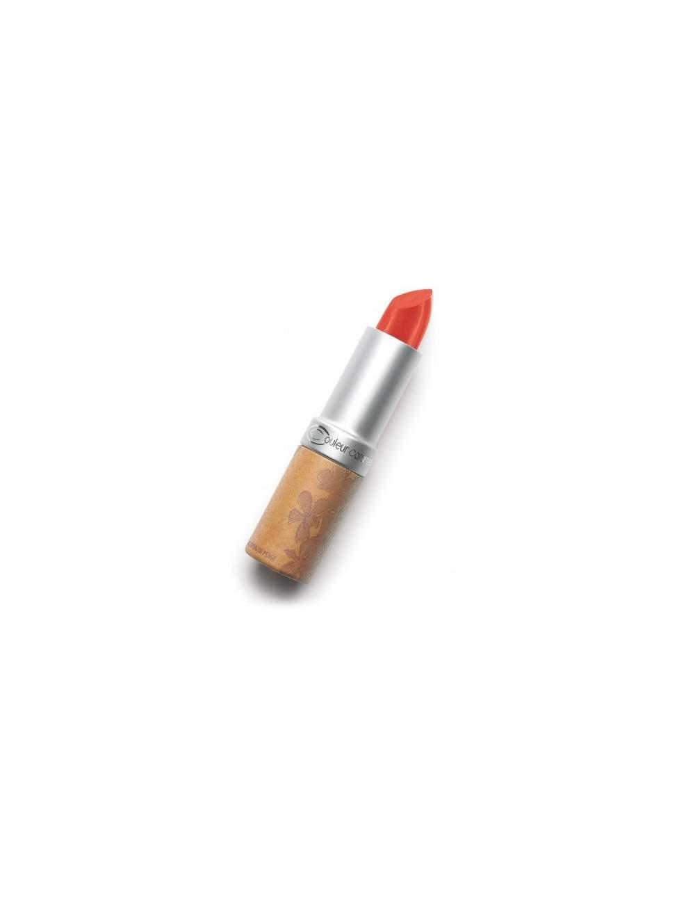 Rouge à Lèvres Bio Brillant 260 Corail. Couleur Caramel