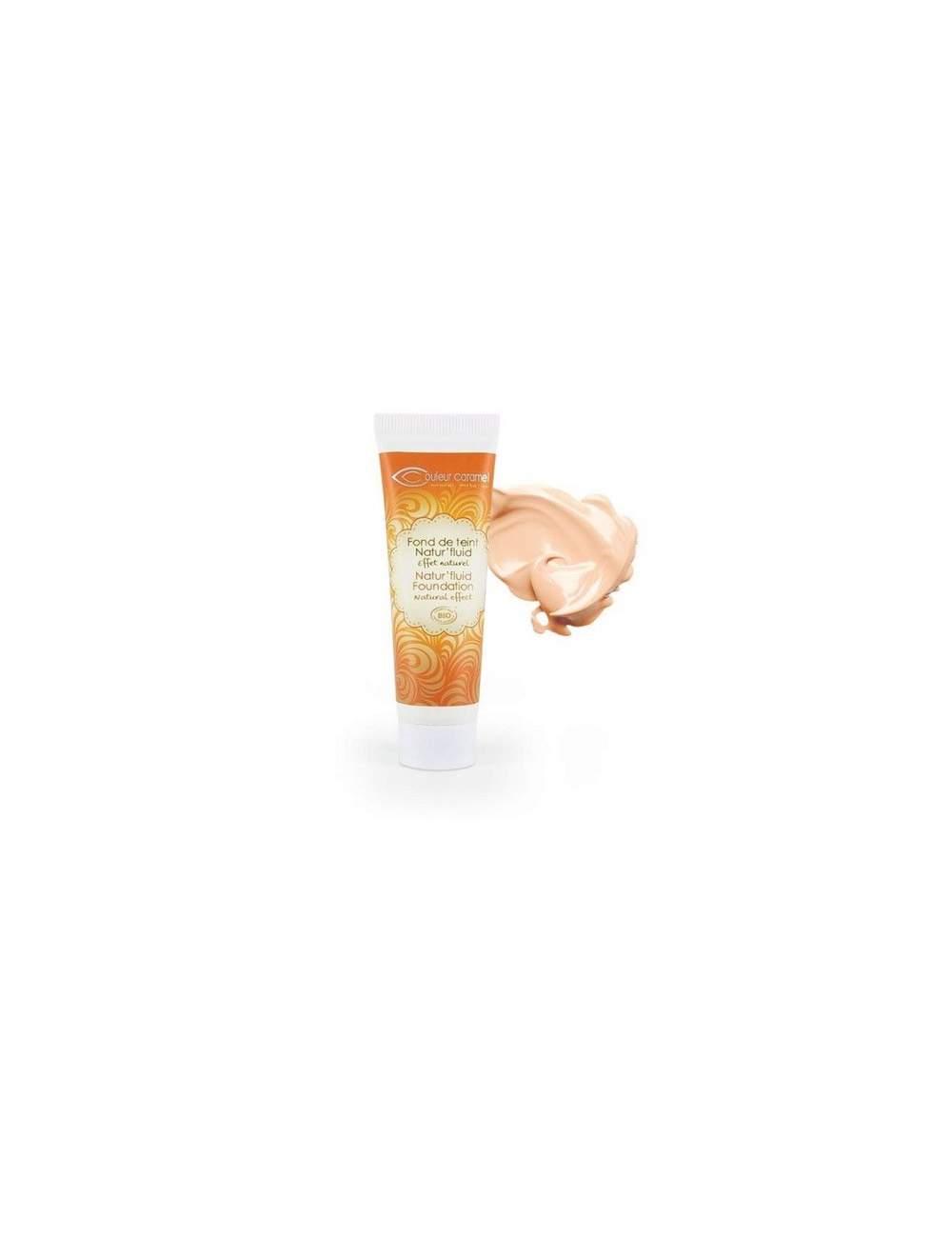 Base de Maquillaje Fluida Bio Natur Fluid 01 Light Beige. Couleur Caramel