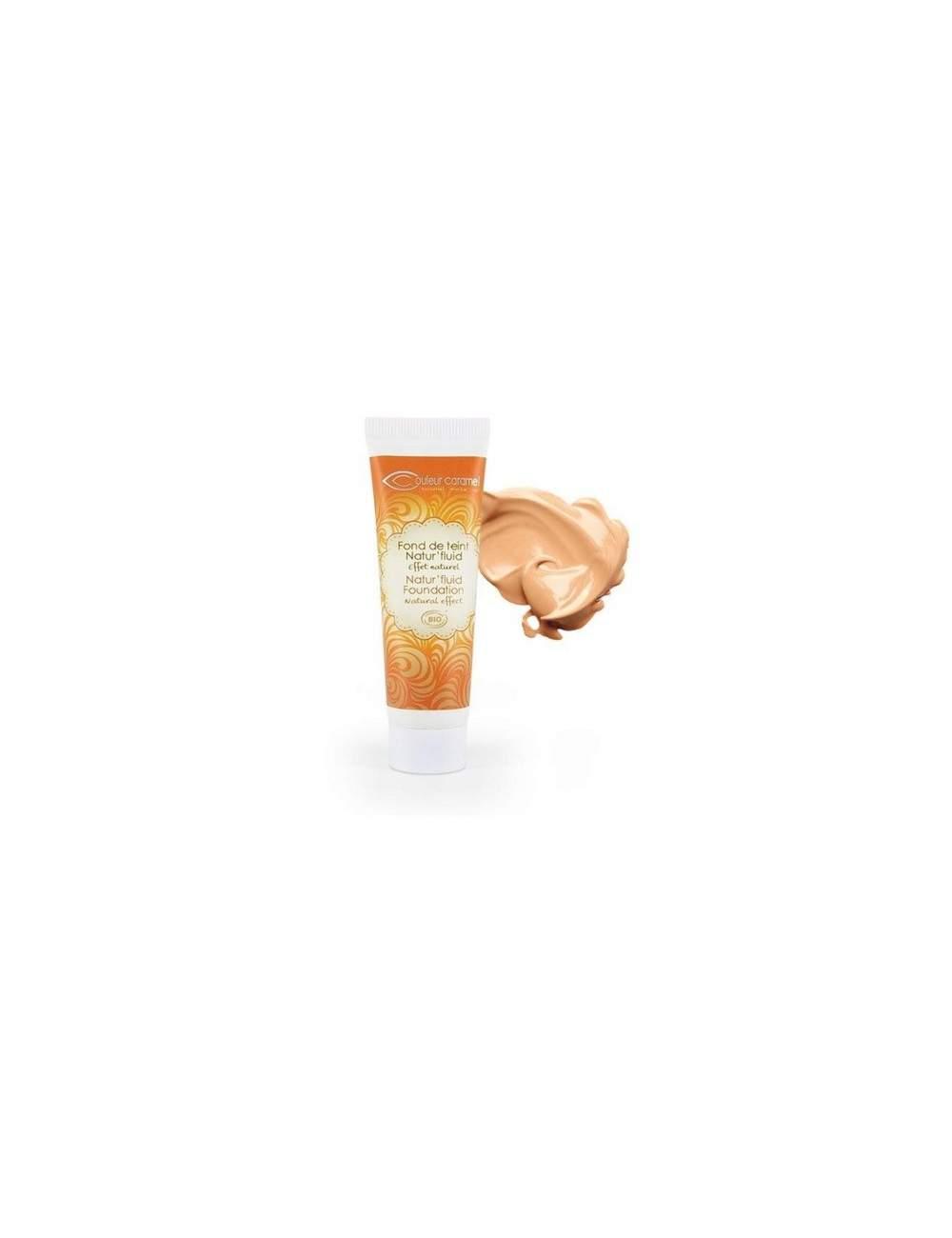 Fond de Teint Fluide Bio Natur' Fluid 03 Apricot Beige. Couleur Caramel