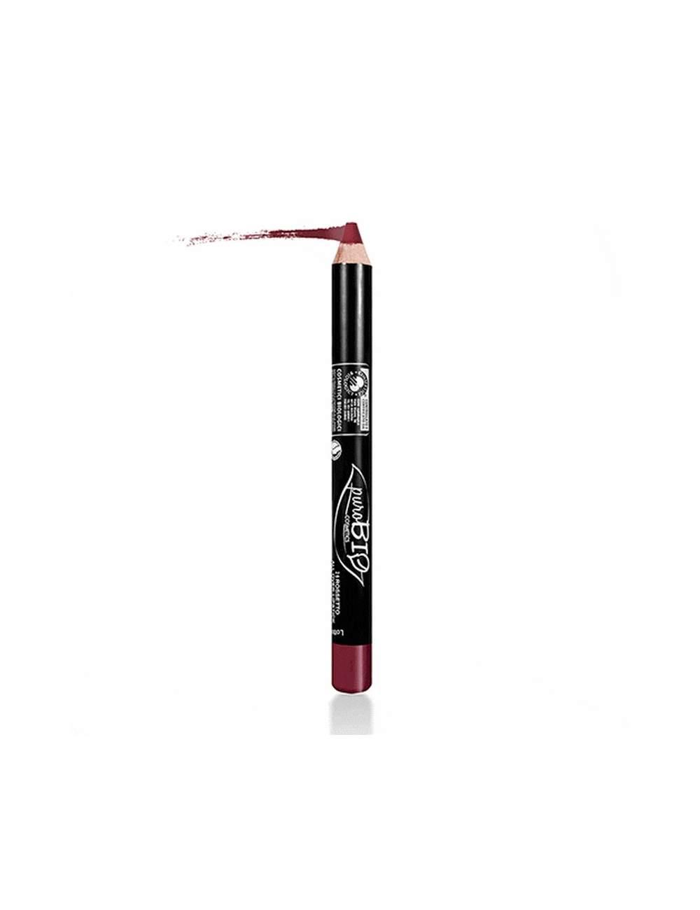 Crayon à Lèvres Écologique Rouge Pourpre. Purobio.