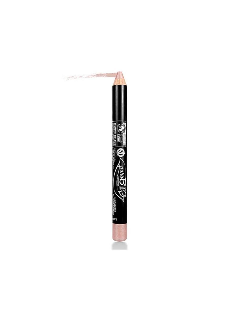 Crayon à Lèvres Écologique Rose Antique. Purobio.