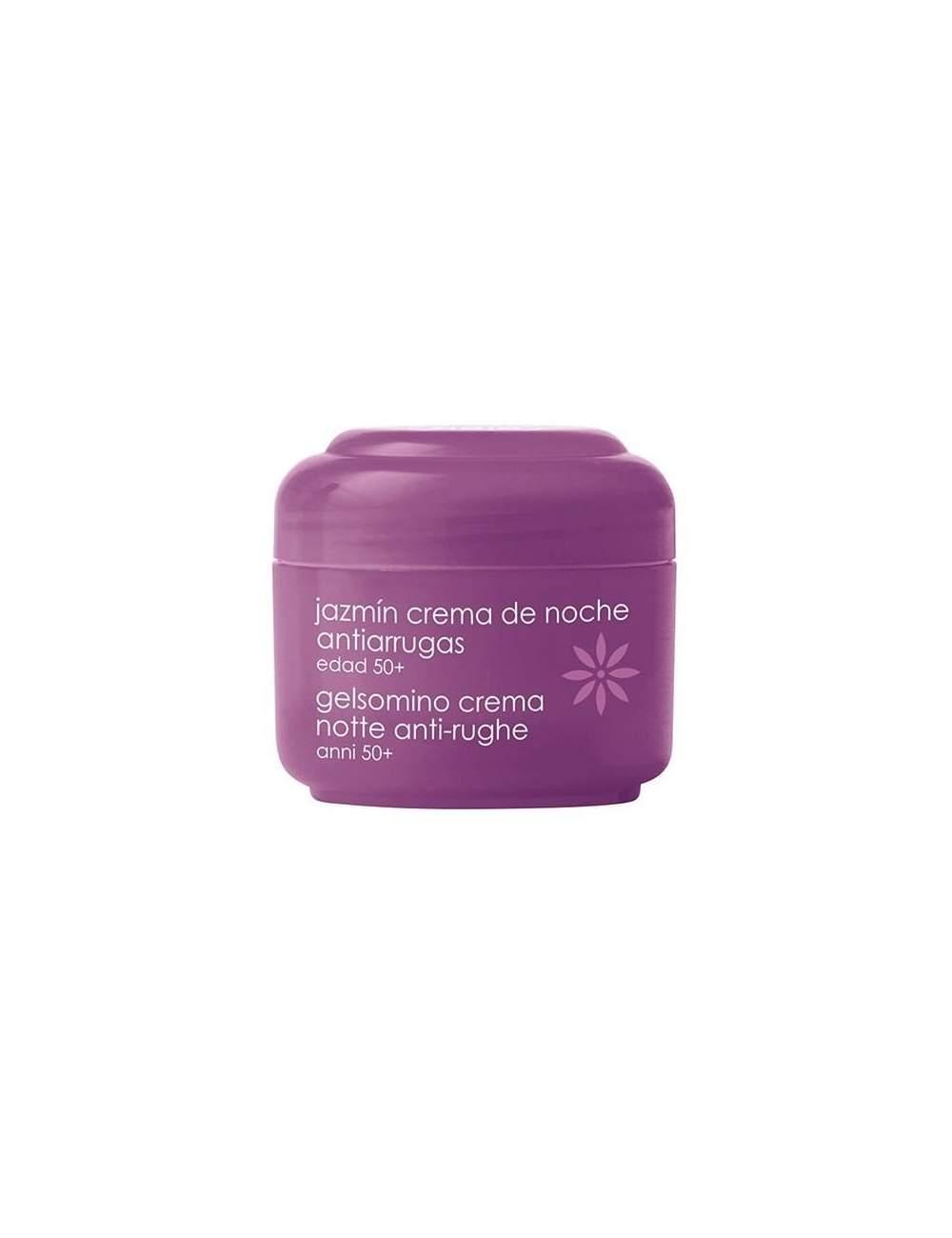 Crema Facial de Noche Natural Antiarrugas de Jazmín. Ziaja