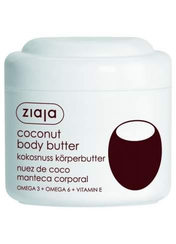 Crema Corporal Natural de Manteca de Coco. Ziaja.