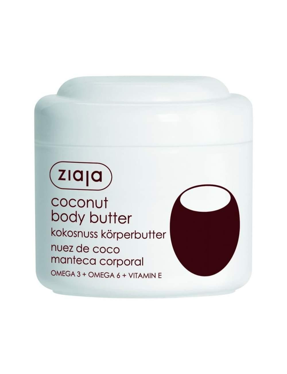 Crème Corporelle Naturelle au Beurre de Noix de Coco. Ziaja.