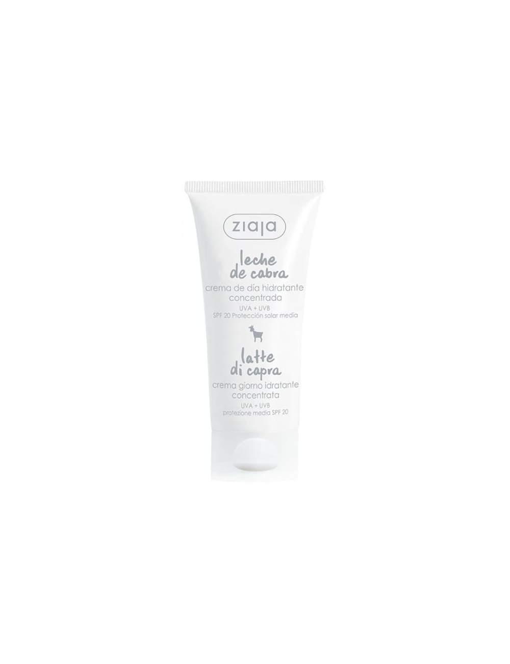 Crema Facial de Día Natural Hidratante de Leche de Cabra SPF20. Ziaja