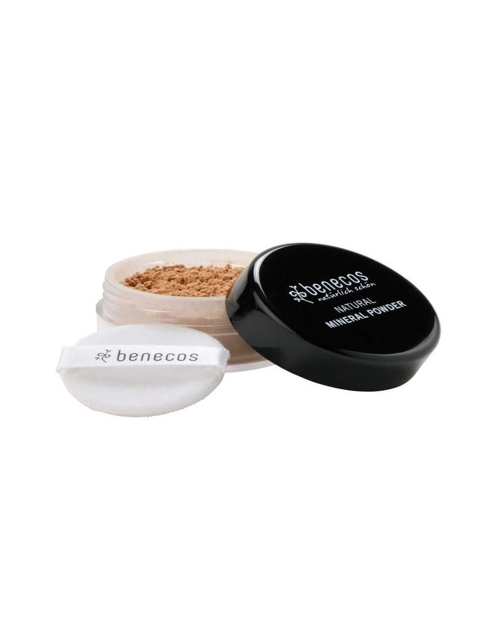 Maquillage en Poudre Minérale Lâches Golden Hazelnut. Benecos